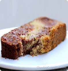 Chocolate Marble Swirl Banana Bread