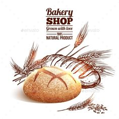 Bakery Sketch Concept - Food Objects