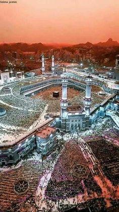 القلب  يهوى إلي مكة و الروح تحن إلى زمزم. 🕋