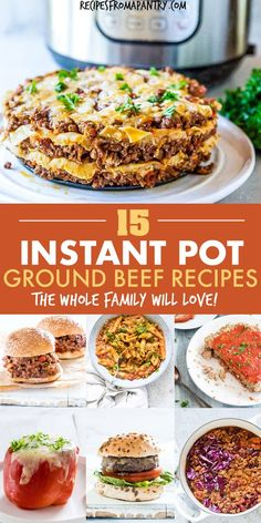 This collection of 15 Instant Pot Ground Beef Recipes includes everything from comfort food classics to healthier fare, and everything in between. Plus each and every one is affordable, simple to make Healthy Beef Recipes, Corned Beef Recipes, Ground Meat Recipes, Keto Recipes, Pressure Cooker Recipes Beef, Instant Pot Pressure Cooker, Instant Pot Dinner Recipes, Instant Recipes, Collection