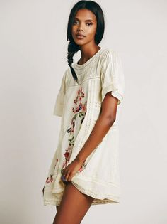 Crochet Lace Boho Mini Dress