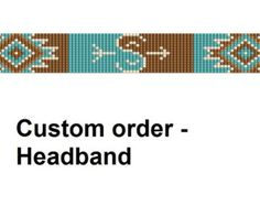 Bead loom pattern - headband. Navajo