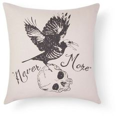 Pin for Later: You'll Want These Halloween Decoration Ideas Under $50  Halloween Never More Pillow ($20)