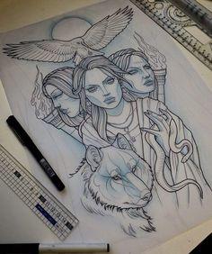 52 trendy Ideas for greek art tattoo goddesses Hera Greek Goddess, Greek Goddess Tattoo, Greek God Tattoo, Hecate Goddess, Greek Mythology Tattoos, Greek Gods And Goddesses, Triple Goddess, God Tattoos, Future Tattoos