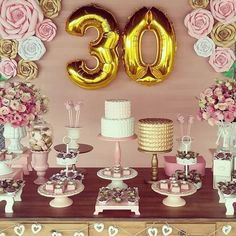 Balloons Home & Garden Party Co, 30th Party, 30th Birthday Parties, Birthday Celebration, Party Time, 30th Birthday Ideas For Girls, 60 Birthday, Happy Birthday Decor, Birthday Brunch
