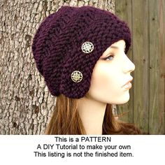 Instant Download Knitting Pattern  Knit Hat Knitting by pixiebell, $5.00