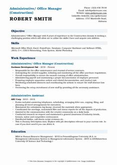 Construction Administrative assistant Resume - 20 Construction Administrative assistant Resume , Sample Idp for Project Manager Construction Website, Administrative Assistant Resume, Food Service Worker, Good Resume Examples, Resume Objective, Best Resume Template, Manager Resume, Modern Resume, Resume Design