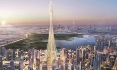 New photos showing the construction of what is expected to become the world's tallest building have been released.