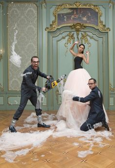 Victor & Rolf in their Paris studio SS 2010