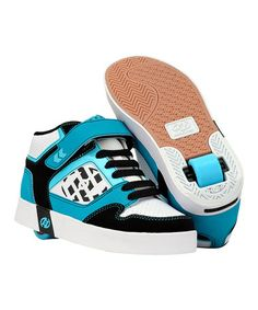 Take a look at this Black & Aqua Stripes Running Shoe by Heelys on #zulily today!