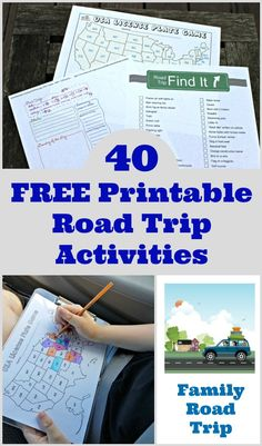 Printable road trip games and activities for kids, tweens & teens to take on long car rides and family vacations! Great no-tech ideas and lots of games & learning ideas to choose from for creating a DIY travel binder - includes free printable binder cover Road Trip With Kids, Family Road Trips, Travel With Kids, Family Travel, Family Vacations, Road Trip Activities, Road Trip Games, Activities For Kids, Road Trip Tips