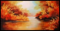 Maľovaná krajina v obrazoch / Maľované obrazy na stenu