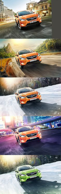 Before-After compilation #3 Cars ads on Behance