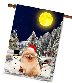Your place to buy and sell all things handmade Christmas Garden Flag, Christmas Dog, Dog Lover Gifts, Dog Lovers, Flag Photo, Flag Stand, Family Garden, Outdoor Photos