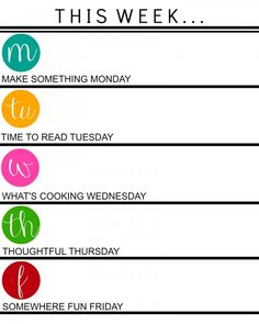 Great weekly schedule
