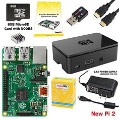CanaKit Raspberry Pi 2 Complete Starter Kit with WiFi (Latest Version Raspberry Pi 2 + WiFi + Original Preloaded 8GB SD Card + Case + Power Supply + HDMI Cable) CanaKit