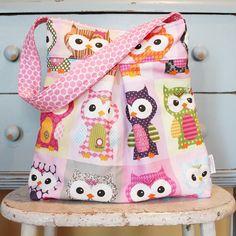 Large OWL Diaper Bag by PETUNIAS  hobo bag purse by PETUNIAS, $68.50
