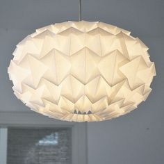 Signature White Paper Origami Lampshade by Studio Snowpuppe