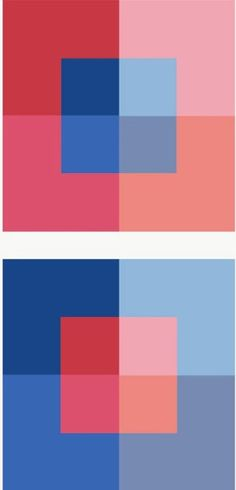 Which is the brightest red?  The boldest blue? In Josef Albers App, Colors Interact | MuseumZero http://museumzero.blogspot.com/2013/09/in-josef-albers-app-colors-interact.html