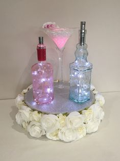 Cocktail lights centrepiece by daytime #piecesandposies