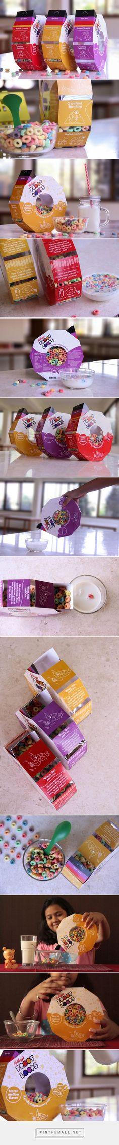 Frootloops cereal packaging designed by student Prachi Deshingkar, Shikha Kanakia (India) - http://www.packagingoftheworld.com/2016/03/frootloops-student-project.html