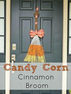 Easy DIY Candy Corn Cinnamon Broom