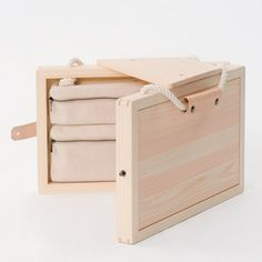 This wooden children's drawing case by Japanese designer Kana Nakanishi of Oiseau folds out to form a stool.