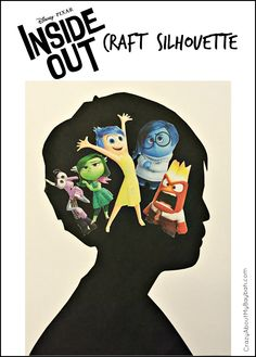 Pixar Inside Out Craft | Silhouette Craft for Kids