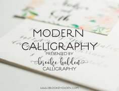Calligraphy Class | Myrtle Beach | www.brookeholden.com