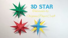 Origami: 3D Star | Christmas Decorations - OrigamiPaperCraft