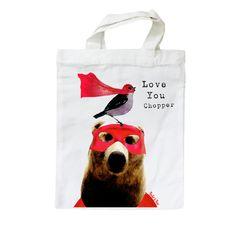£6 Custom printed cotton bags, Rocket and Bear