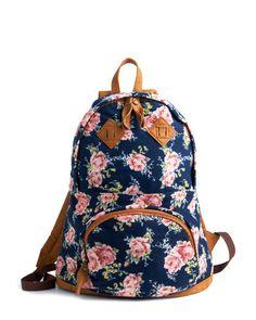 floral backpack... too cute!