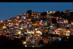 Overview at night time (Rio de Janeiro) - JR