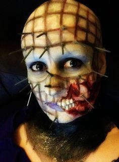 hellraising pinhead, 1st attempt, halloween makeup https://www.makeupbee.com/look.php?look_id=83925