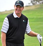 """Theodore Ernest """"Ernie"""" Els: (born 17 October 1969) is a South African professional golfer. A former World No. 1, he is known as """"The Big Easy"""" due to his imposing physical stature (he stands 6 ft 3 in (1.91 m)) along with his fluid golf swing."""