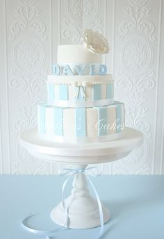 Étincellement avec Bleu et Blanc by Nadine's Cakes & My little white home, via Flickr