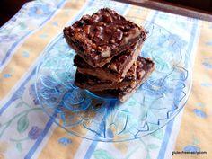Dark Chocolate Walnut Bliss Bars (Gluten Free, Dairy Free, Refined Sugar Free) from Gluten-Free Easily