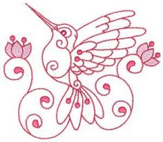 Hummingbird Hand Embroidery Patterns | Additional Images: Extra Large Image