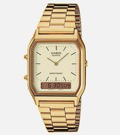 Casio Digital Analog Watch Gold