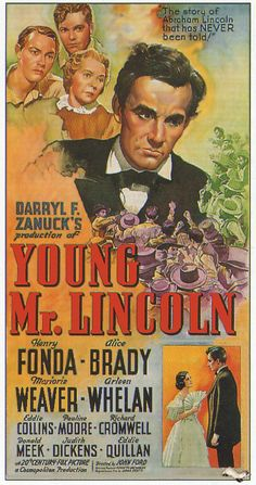 Lincoln Century Fox D: John Ford. Old Movie Posters, Classic Movie Posters, Movie Poster Art, Classic Movies, Theatre Posters, Retro Posters, Art Posters, Vintage Posters, Vintage Photos