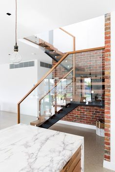 Minimalist and contemporary, Beaufort Way's simplicity defines its understated character. A steel central carriage lends it airy charm, suited to modern and spacious homes. Brisbane, Melbourne, Mid-century Modern, Contemporary, Stair Railing, Gold Coast, Stairways, Entrance, Mid Century