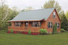 Modular Log Homes - Prefab- Cozy Cabins, LLC. May be a prefab/Modular BUT. Prefab Log Homes, Modular Log Homes, Prefab Cabins, Log Cabin Homes, Log Cabins, Rustic Cabins, Design Room, House Design, Cabin Design