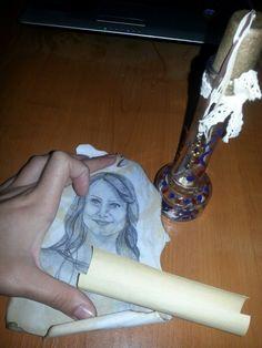Portrait in a bottle