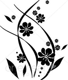 Free clip art black and white flowers flower flourishes clipart flower clipart flower accents flower graphics the printable wedding mightylinksfo