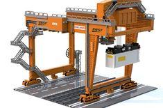 The Rail Mounted Gantry Crane - LEGO IDEAS – Product Ideas – US Train You are in the right place about diy face mask sewing patt - Lego Mecha, Lego Disney, Lego Modular, Lego Design, Lego Poster, Pokemon Lego, Lego Crane, Lego Hacks, Lego City Train