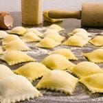 Homemade Ravioli: Every year my family and I get together and have 'Italian Night,' where we make homemade ravioli/pasta. Cheese Ravioli Filling, Homemade Ravioli Filling, Cheese Ravioli Recipe, Homemade Pasta Dough, Homemade Cheese, Homemade Ravioli Recipes, Pasta Casera, Italian Cheese, Fresh Pasta