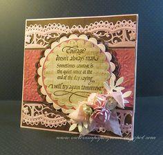 Quietfire Creations: Blog Hop! Courage & Scrapbook Adhesives