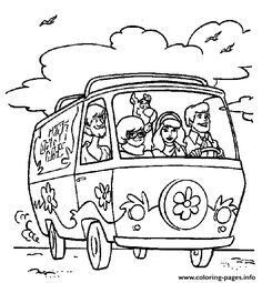 Scooby Doo Coloring Pages Free | Scooby Doo color page cartoon ...