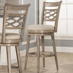 Hillsdale Furniture Chesney Swivel Counter Stool (Counter Height - in. Swivel Counter Stools, Counter Height Stools, Kitchen Stools, Wood Counter, Bar Counter, Dining Room Bar, Living Room Chairs, Living Rooms, Island Stools