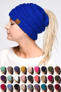 62d06e33f1a20 CC Pony Tail Beanie - Kids   Adult - Many Colors!